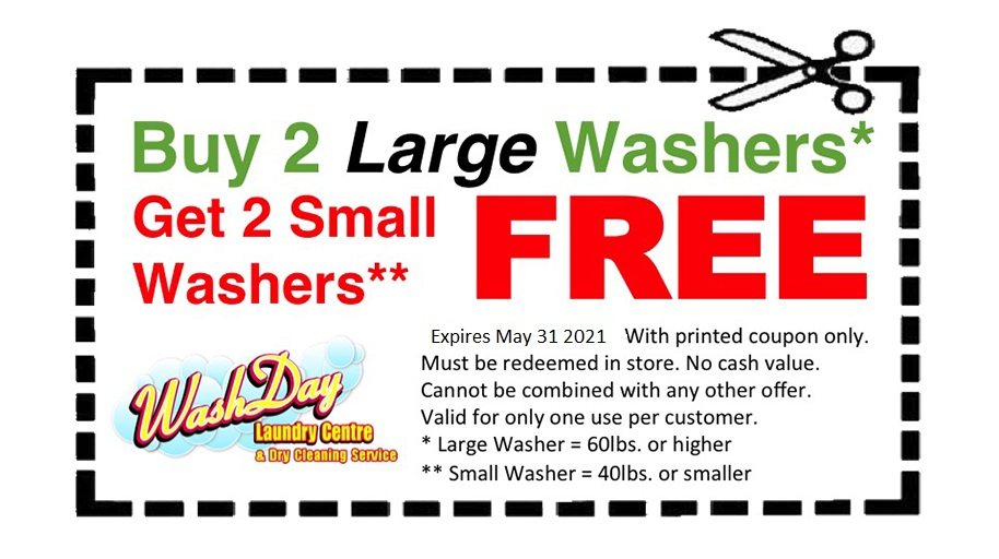 July coupon free laundry
