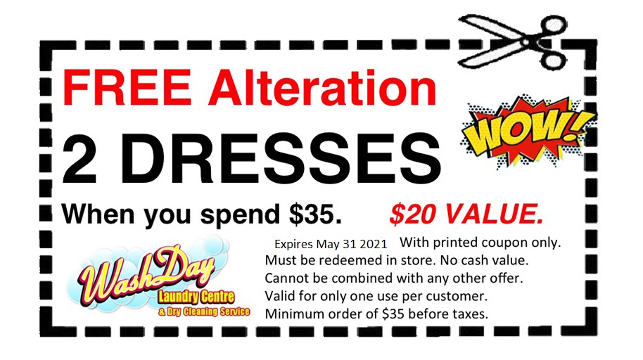 July coupons, alteration, free